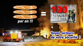 DES POMPIERS AU PRIX DE 3 BAGUETTES  : Aidons les Pompiers à recruter