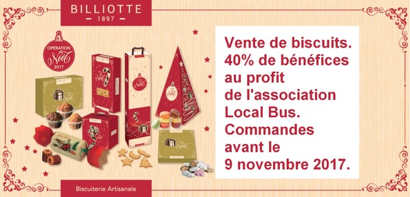 Visuel vente biscuits local bus 2017