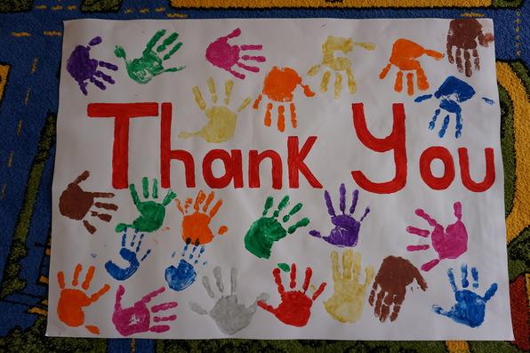 Preschoolers thank you
