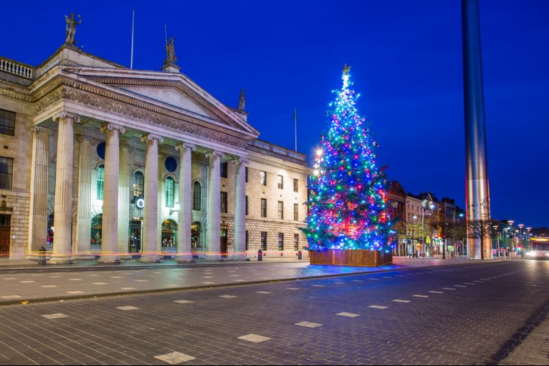 Weihnachtsshopping in Dublin