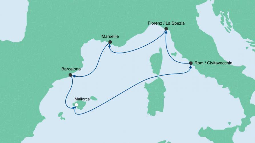 Sonderpreis: Mediterrane Schätze 1 mit AIDAnova
