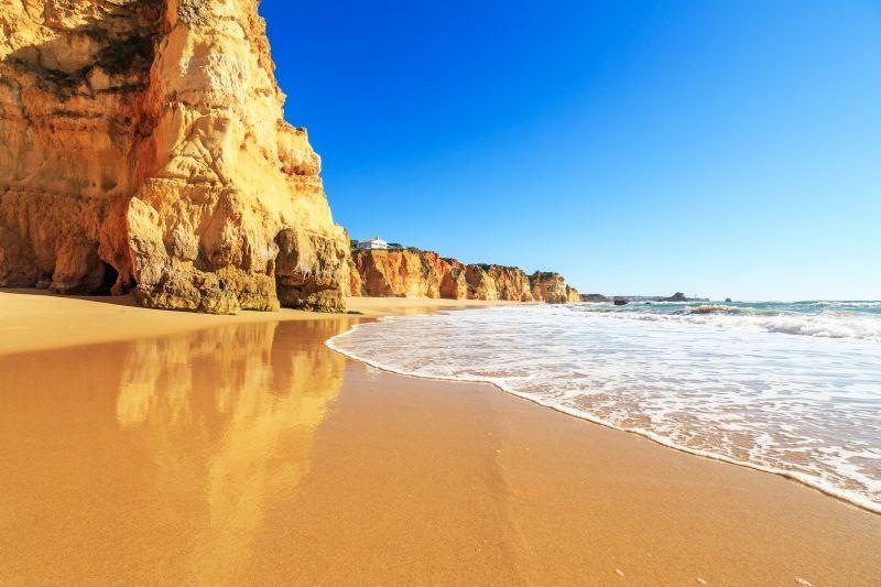 Sonne satt an der Algarve