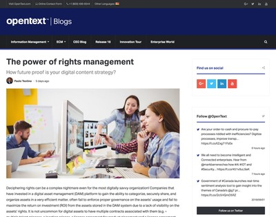 DAM articles about OpenText Media Management ∙ Planet DAM