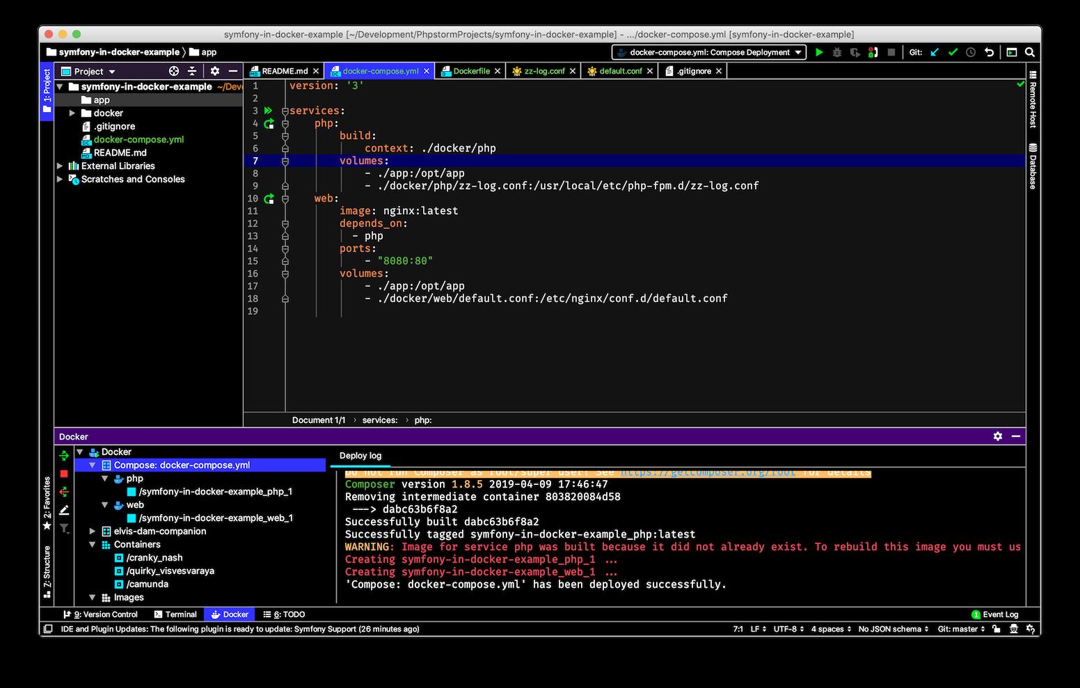 PhpStorm IDE screenshot