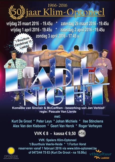 Winnaars vrijkaarten Ladies Night