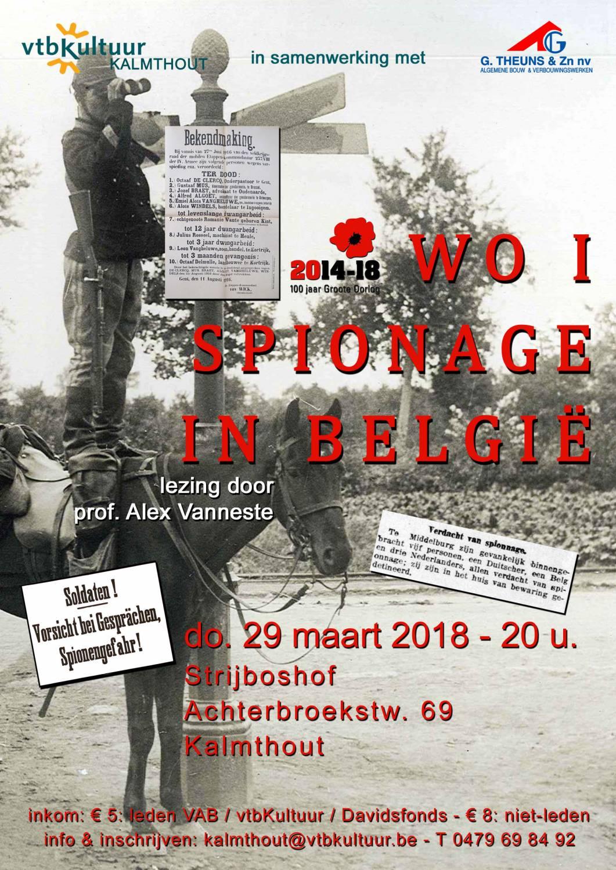 SPIONAGE IN BELGIE TIJDENS WO I