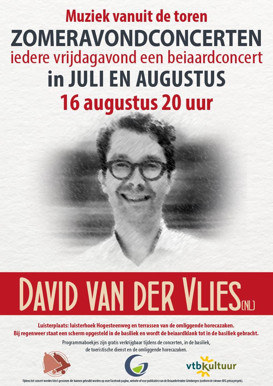 Zomeravondconcert - David van der Vlies (NL)