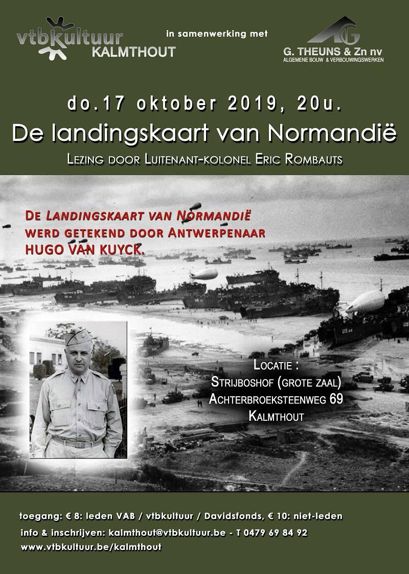 Belgische architect van landingskaart van Normandië-Hugo Van Kuyck