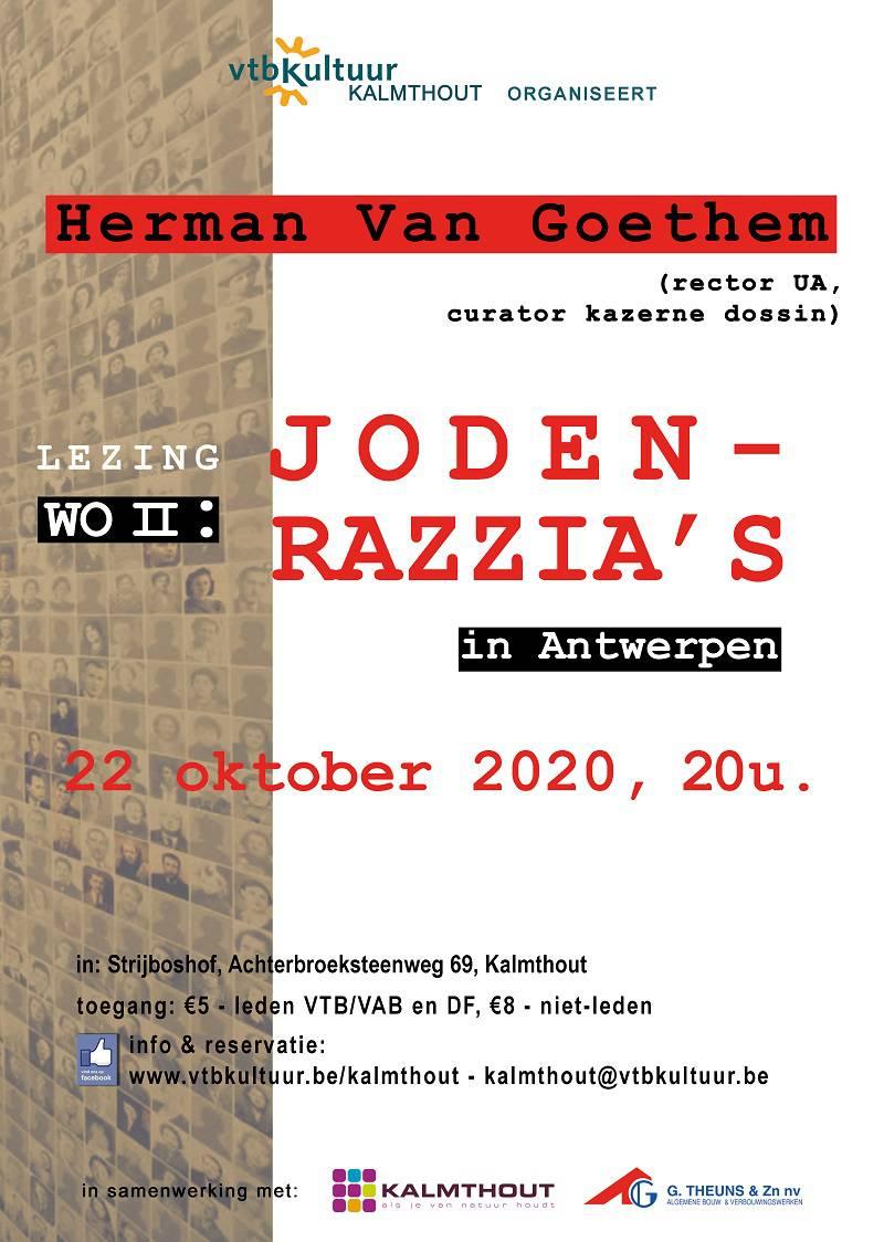 Lezing : JODEN RAZZIA'S door Prof Herman Van Goethem