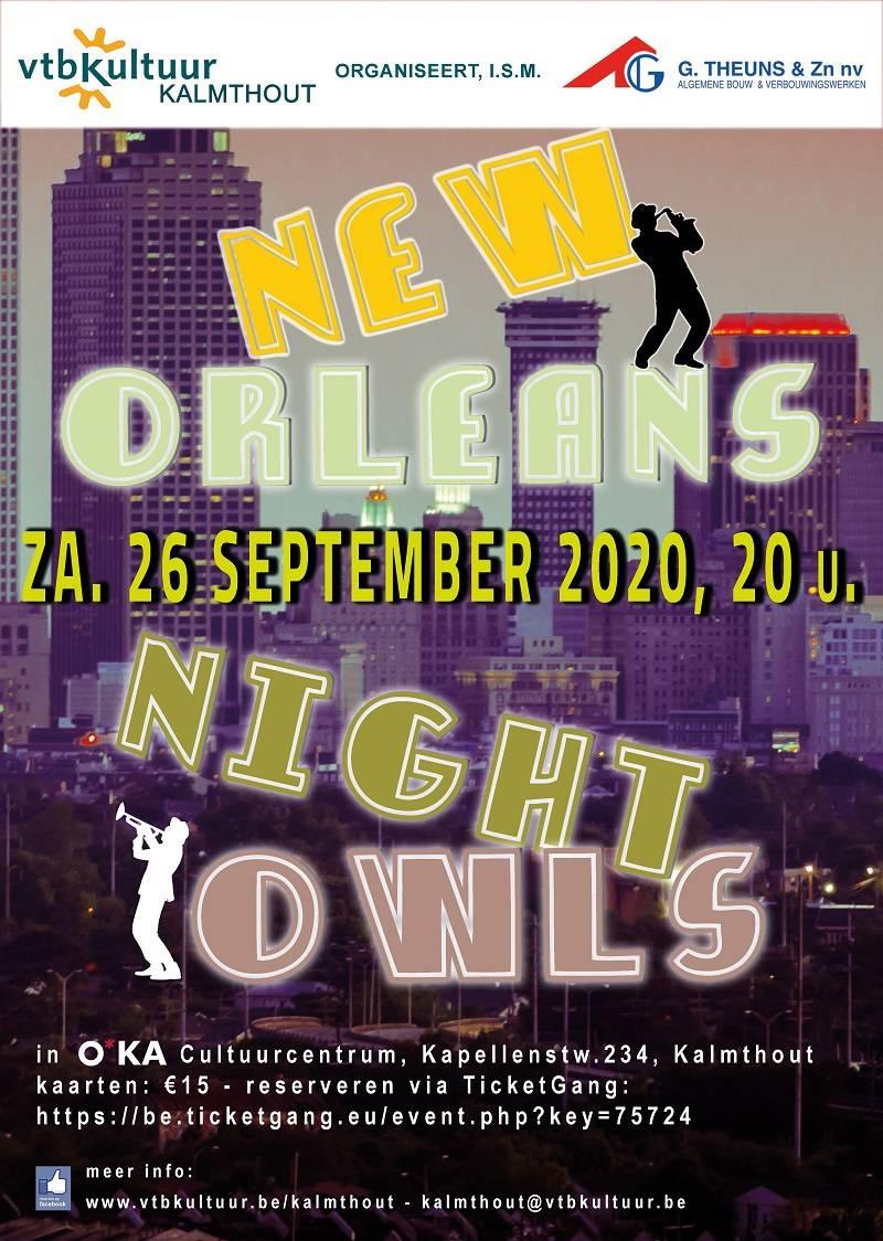 Jazz avond : THE NEW ORLEANS NIGHT OWLS