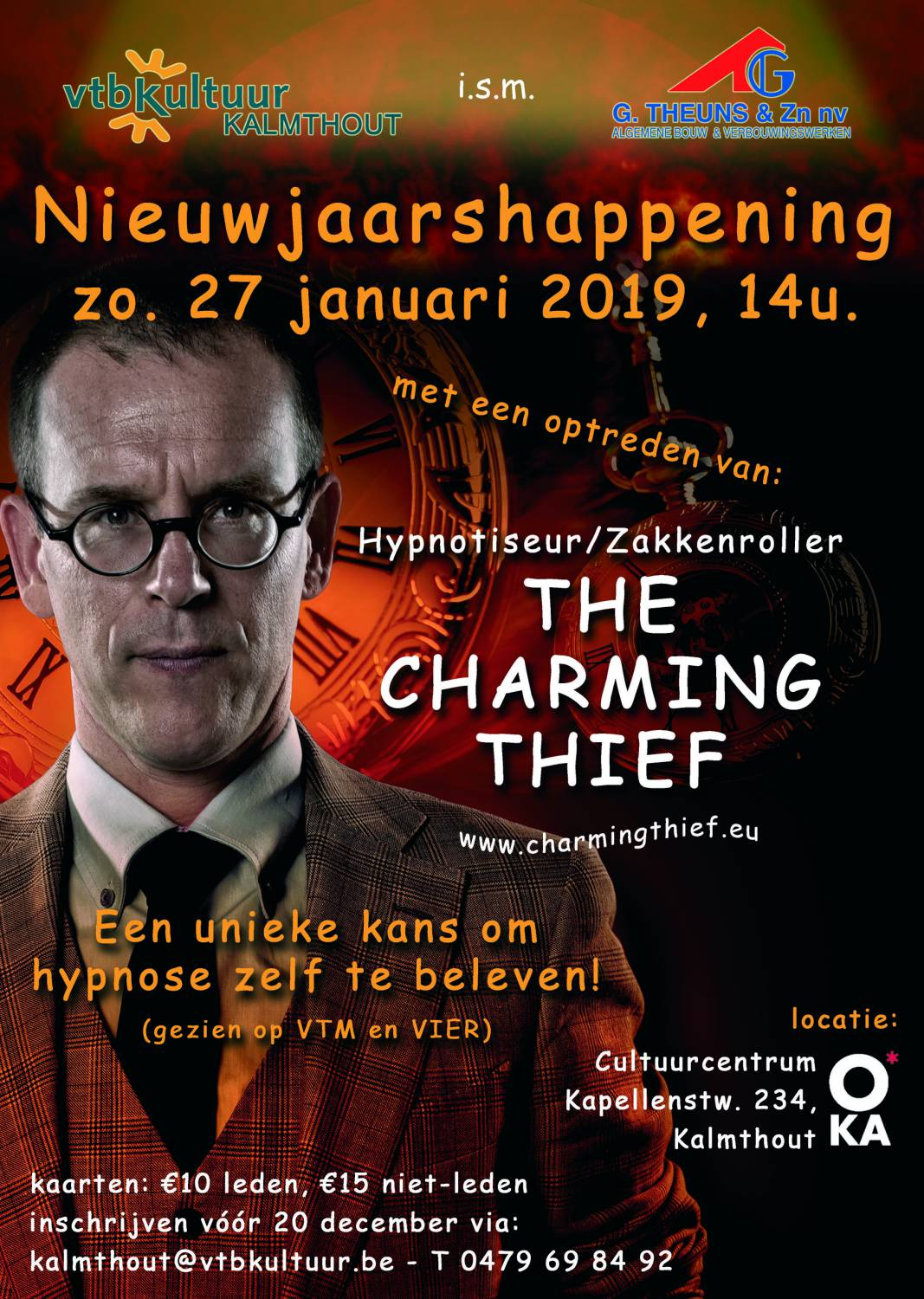 Nieuwjaarshappening : THE CHARMING THIEF