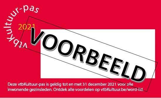 Nieuwe vtbKultuur-pas voor 2021-Hernieuwen of nieuw lid worden.