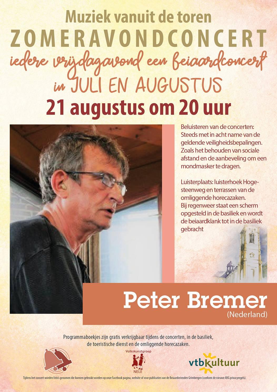 Zomeravondconcerten - Peter Bremer (NL)