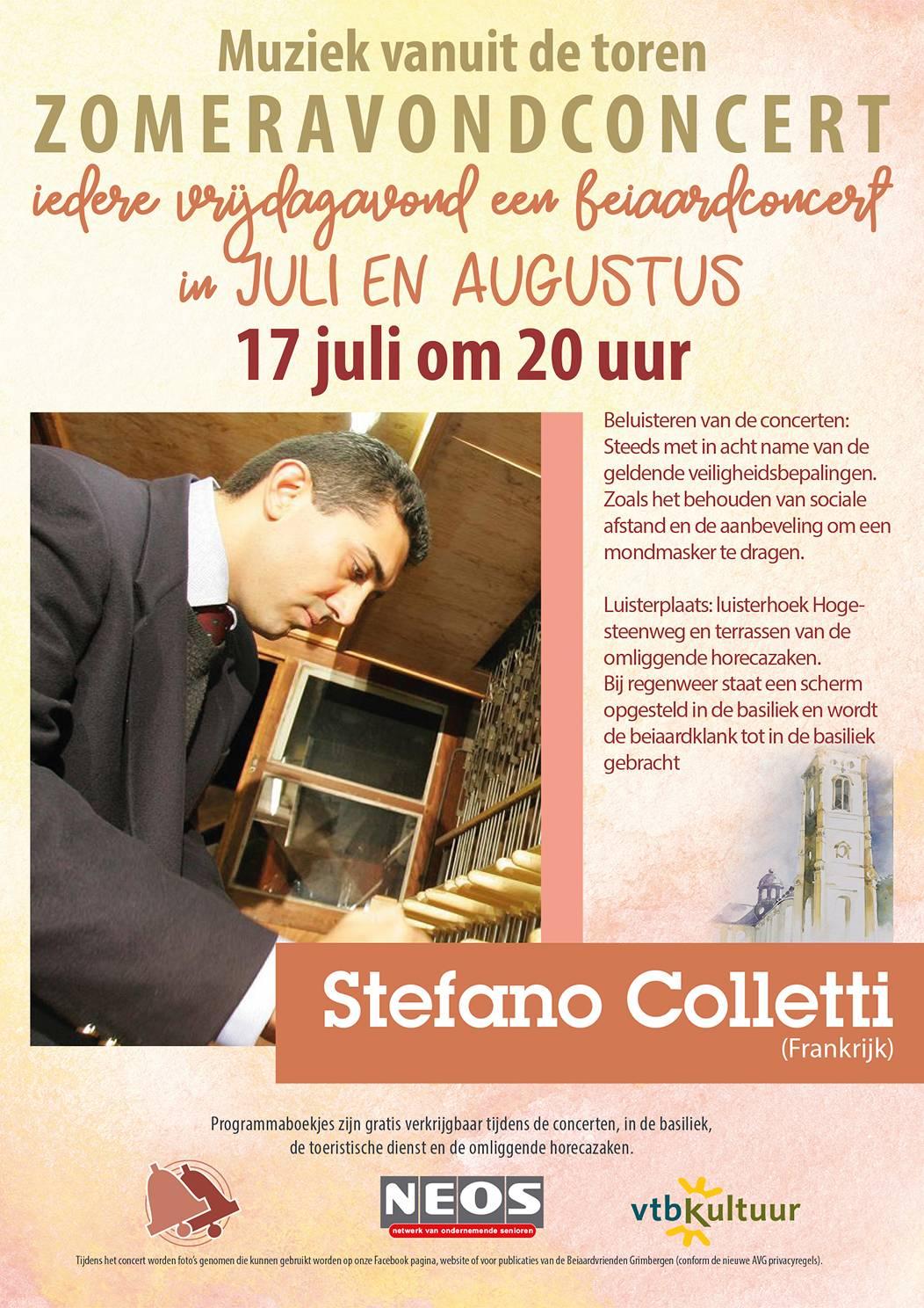 Zomeravondconcerten - Stefano Coletti (Fr)
