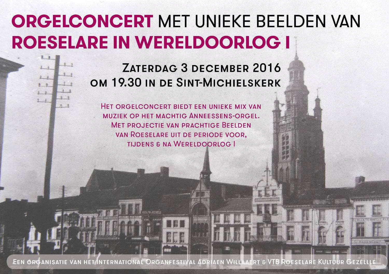 Orgelconcert Roeselare Wereldoorlog I