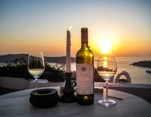 Kreta & Santorini, wijnavond