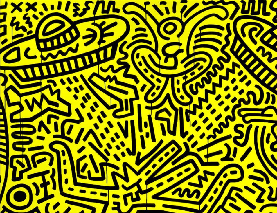 Keith Haring, popartkunstenaar, PSK Brussel
