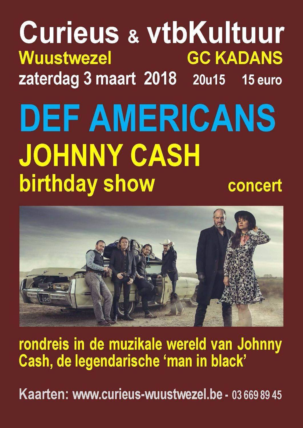 Johnny Cash Tribute - Band Def Americans  VOLZET