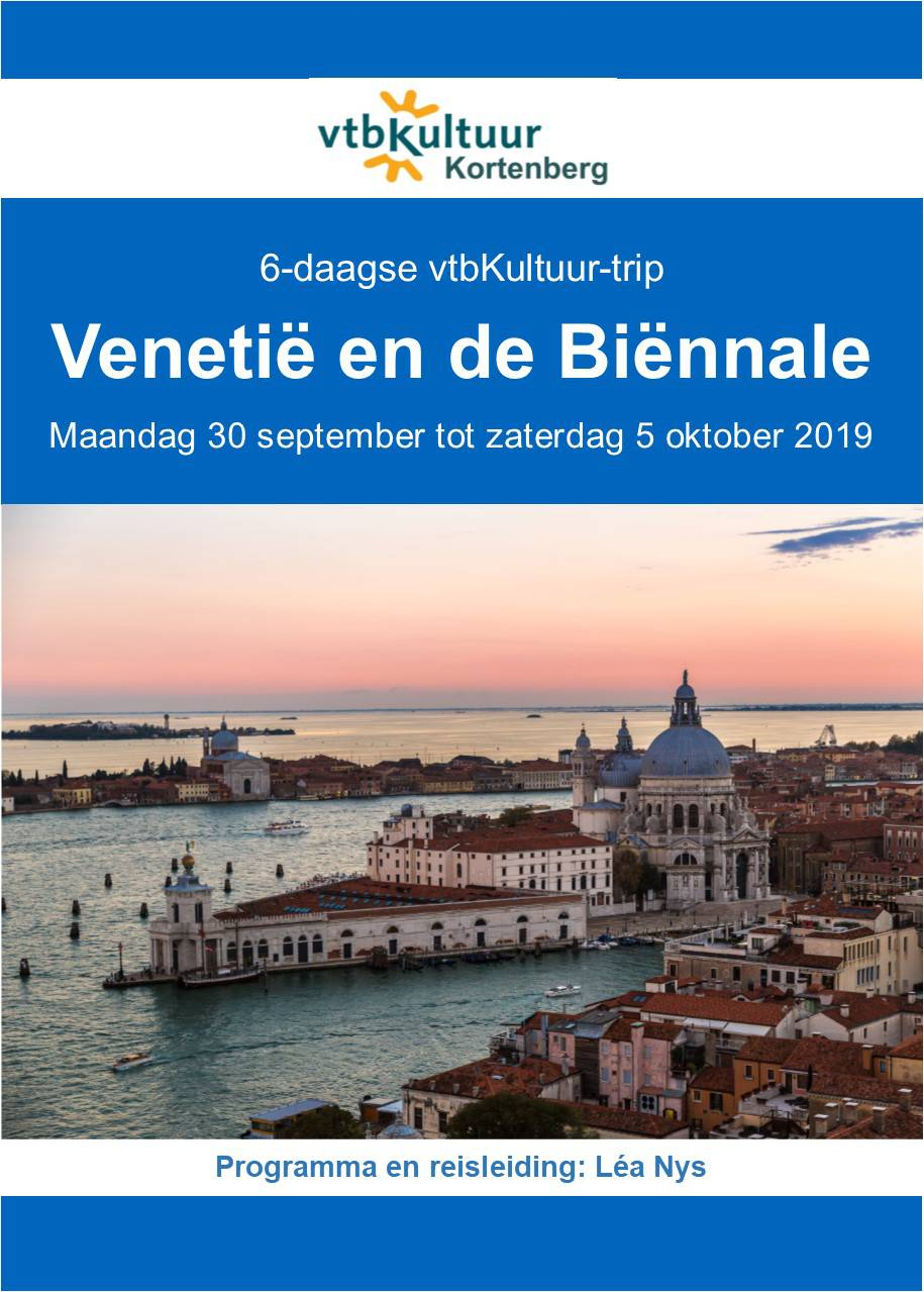 Venetië & de Biënnale, 6-daagse vtbKultuur-trip (volzet)