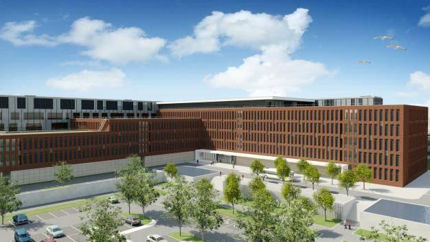 Werfbezoek nieuw ziekenhuis Roeselare