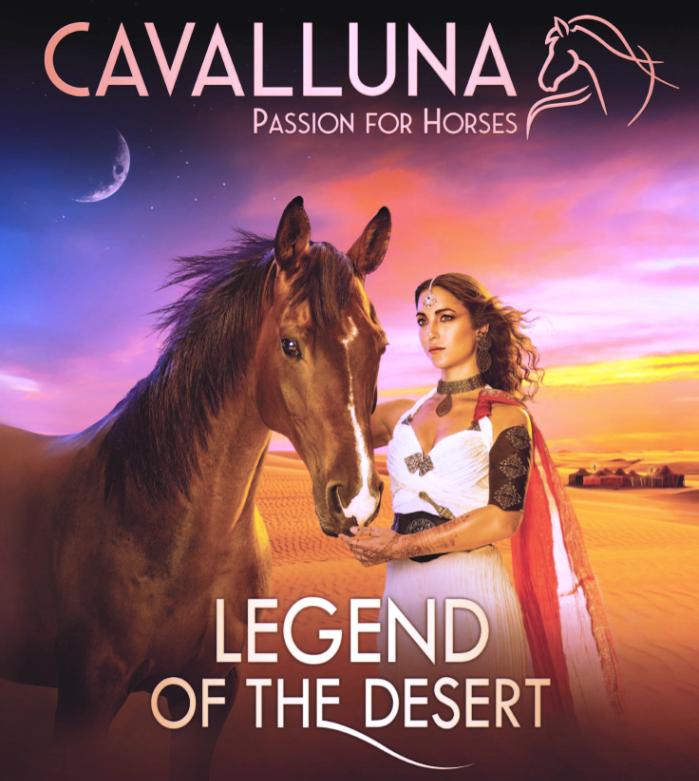 Live-entertainmentshow 'Cavalluna, Legend of the Desert' in Sportpaleis Antwerpen