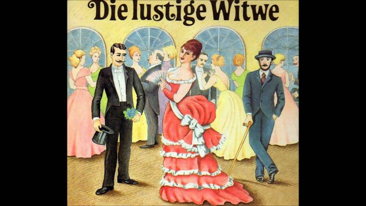 Naar de operette 'De Lustige Weduwe'