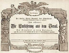 Naar 'Die Entführung aus dem Serail' van Mozart