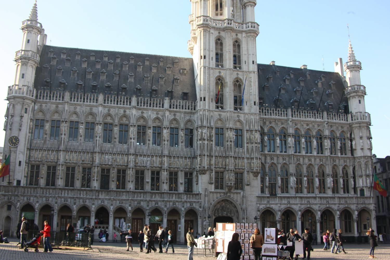 Bezoek aan het stadhuis van Brussel.