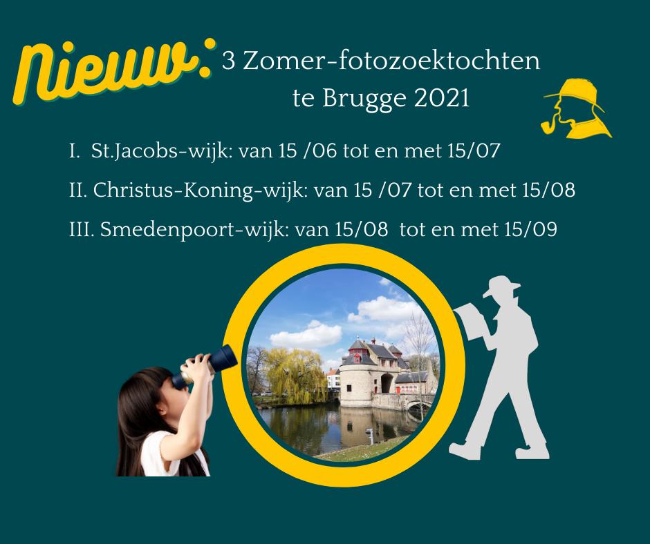 3 Zomer-Fotozoektochten 2021 te Brugge