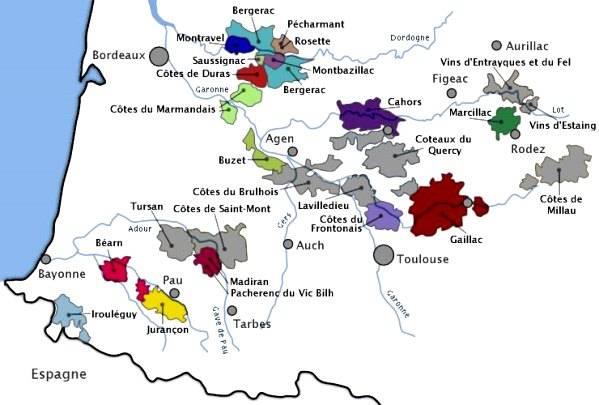 Wijnthema 'Zuidwesten (Sud-Ouest) van Frankrijk'