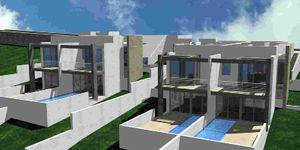 Moderne Neubau-Doppelhaushälfte mit eigenem Pool und Meerblick in Cala Mandia (Thumbnail 1)