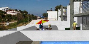 Moderne Neubau-Doppelhaushälfte mit eigenem Pool und Meerblick in Cala Mandia (Thumbnail 4)