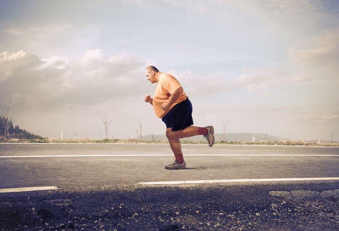Fat guy running
