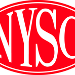 Logo nysc weiss gross nysc standard red outline