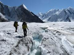 South Inylchek Glacier in Kyrgyzstan
