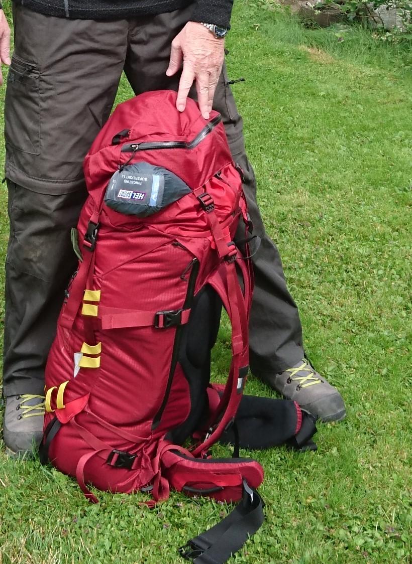 Pakke telt utenpå sekken , hvor? Bære og fraktsystemer