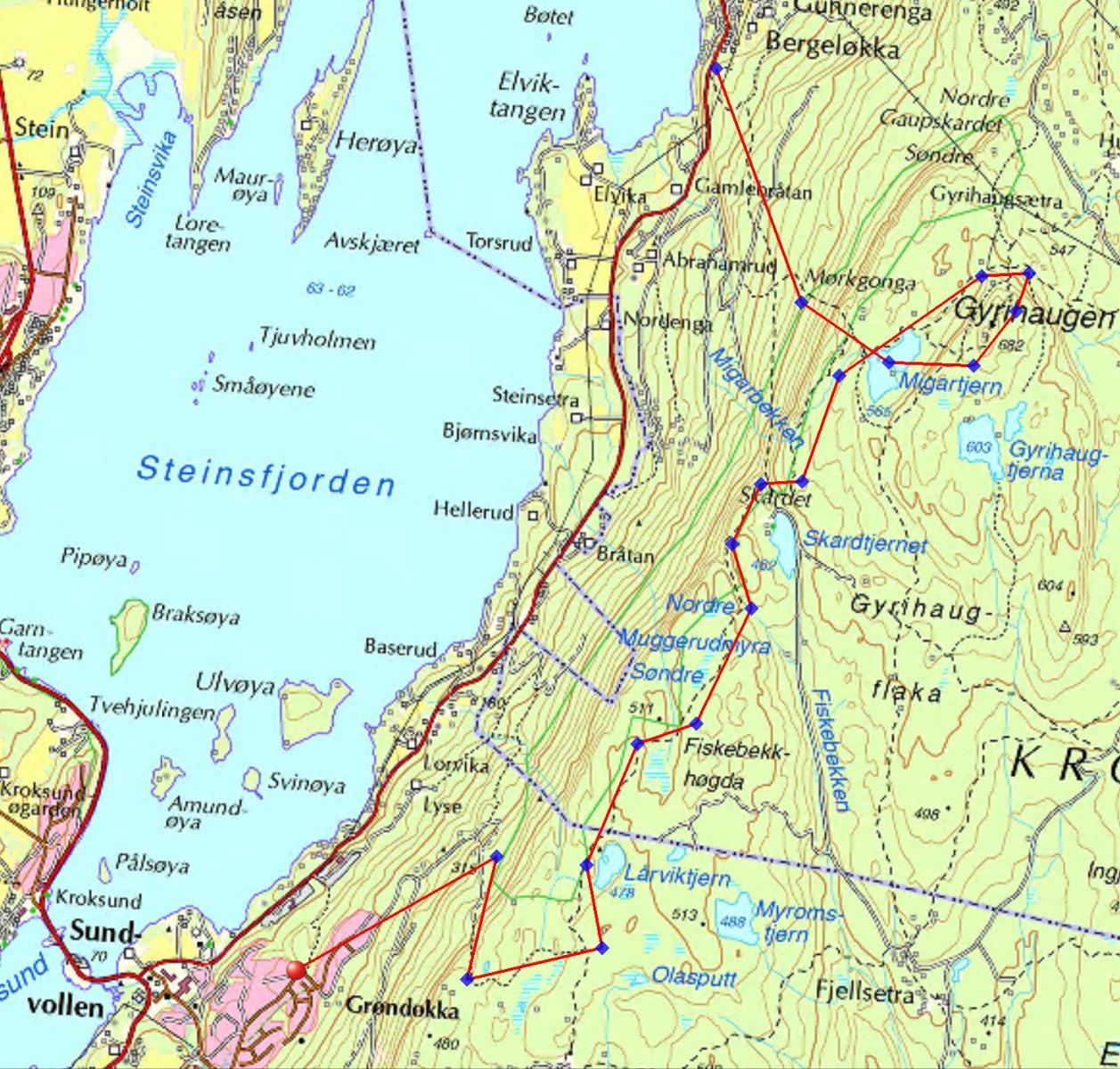 mørkgonga kart Mørkgonga Krokskogens spektakulære ravine   Turrapporter   Fjellforum mørkgonga kart