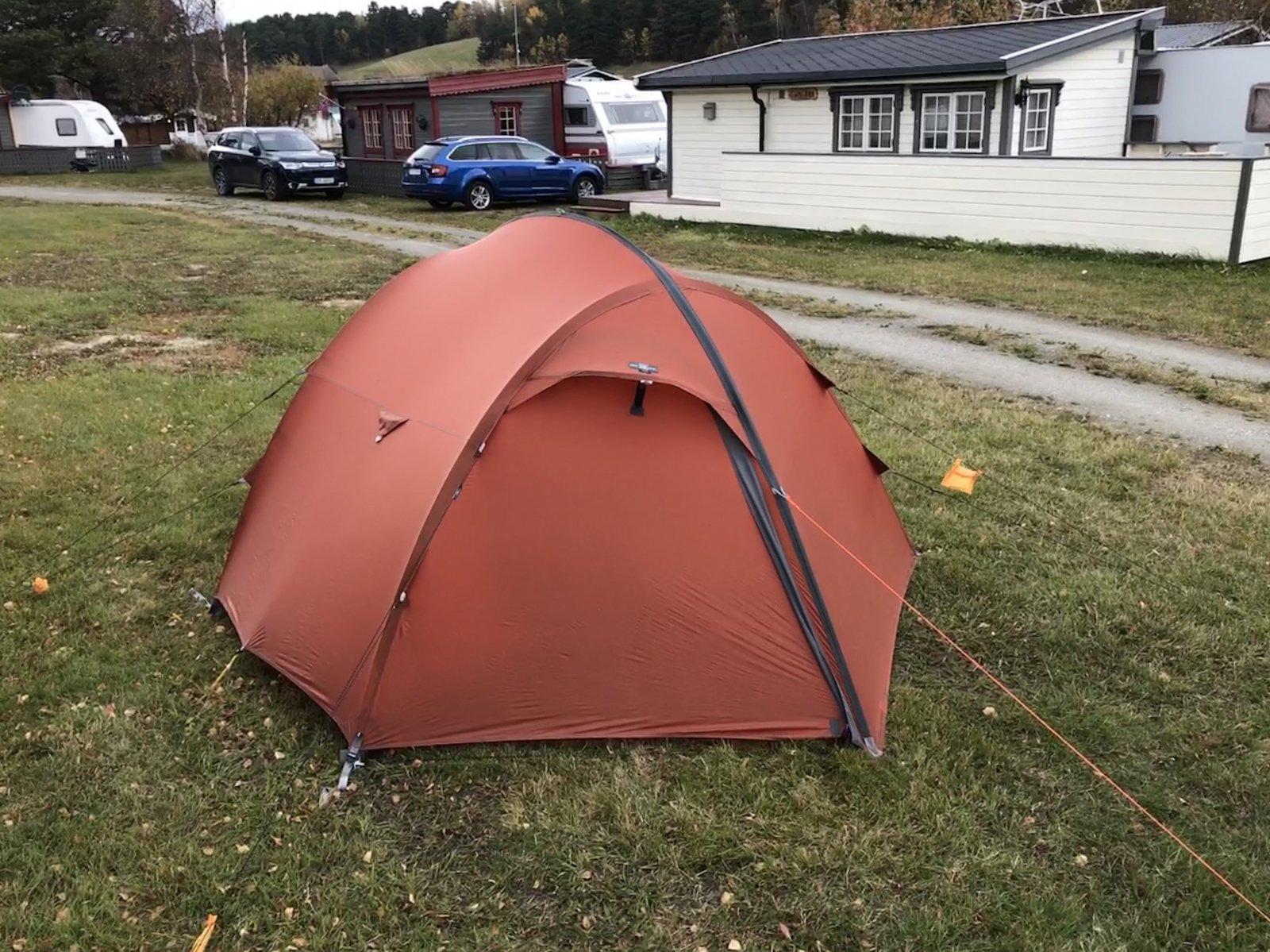 Vær stabilitet på superlette telt? Telt og lavvo