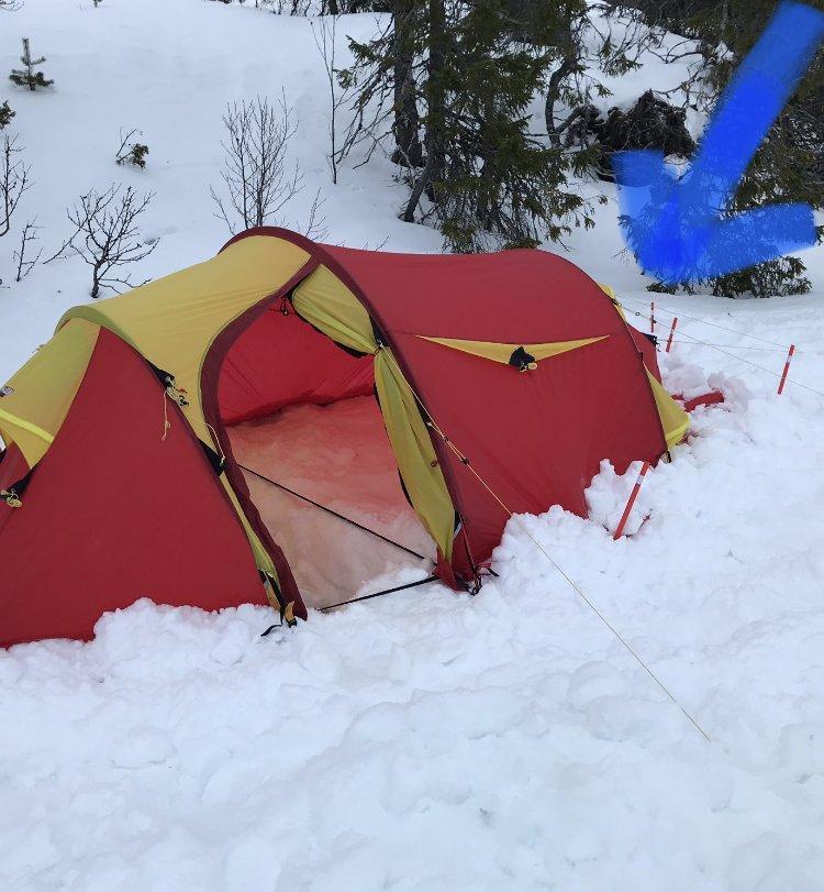 Problemer med ytterduk Fjellheimen x trem 3 camp Telt og