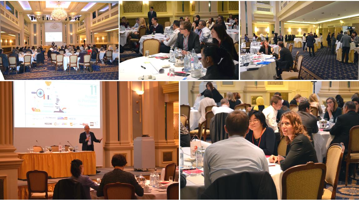 Project & portfolio management congres, Fleming. photo collage.