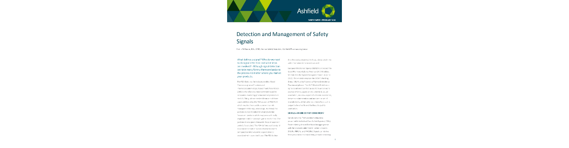 Detection and Management of Safety Signals