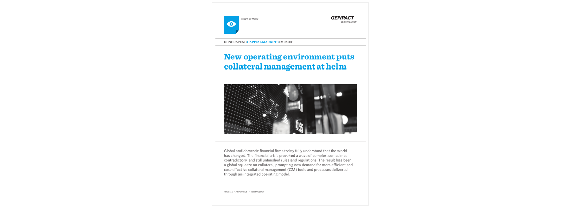 Genpact whitepaper for Fleming. Collateral Management Forum New York