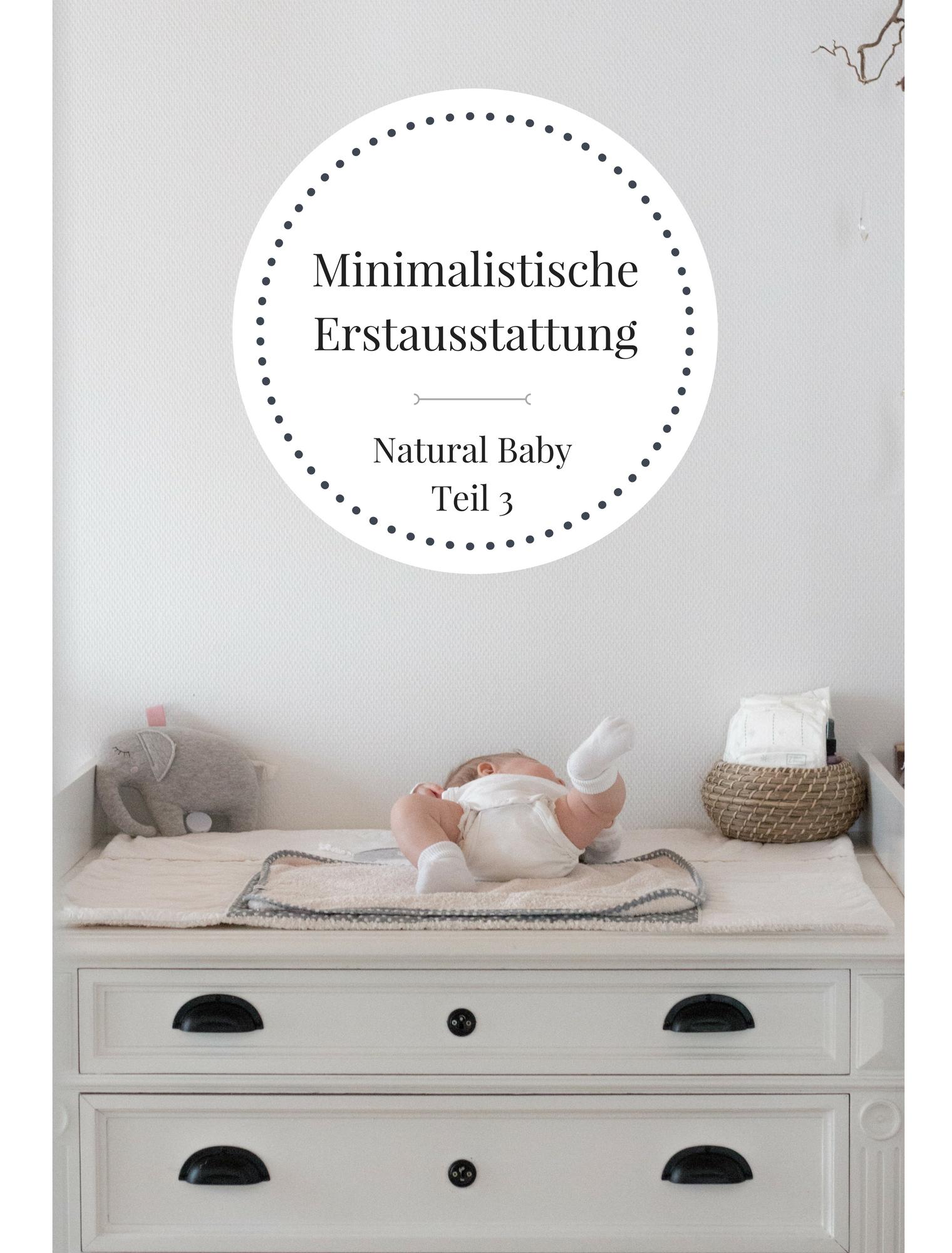 Minimalistische Erstausstattung Baby