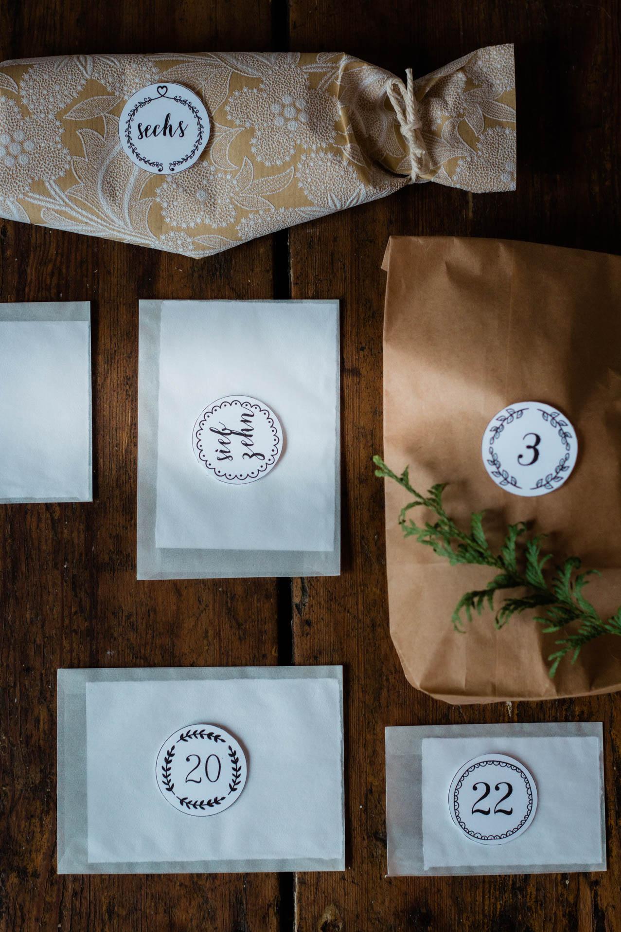 Ideen für einfachen, minimalistischen Adventskalender mit Kind - Zeit statt Zeug {flowers on my plate}