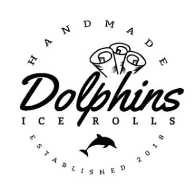 Logo Foodtruck Dolphins Ice Rolls