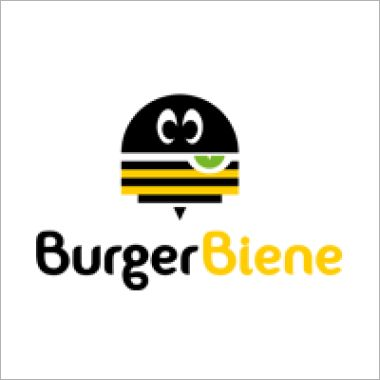 Logo Foodtruck Burger Biene