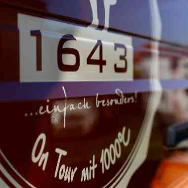 Logo Foodtruck 1643 on Tour mit 1000°
