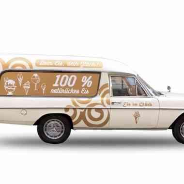 Logo Foodtruck Eis im Glück
