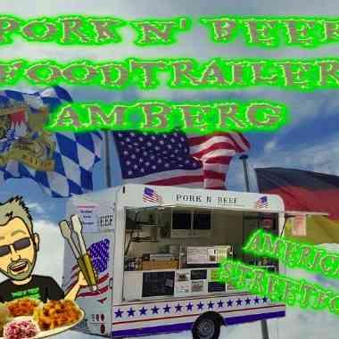 Logo Foodtruck Pork n´ Beef Foodtrailer AMBERG