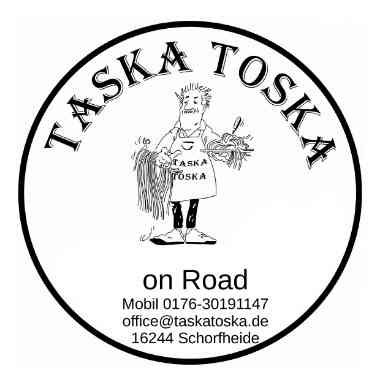 Logo Foodtruck Taska Toska on Road